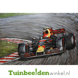 """Metalen schilderij """"Formule 1 wagen"""" TBW001156 120x80 cm"""