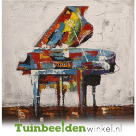 Abstract olieverf schilderij ''De abstracte piano'' TBW003810