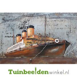 """Metalen schilderij """"Het schip"""" TBW000978 80x120 cm"""