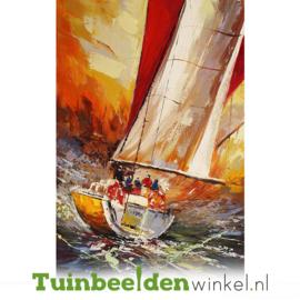Olieverf schilderij ''Zeilen'' TBW003820