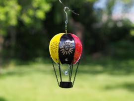 """Metalen figuur """"Luchtballon Belgische kleuren"""" TBW16151me"""