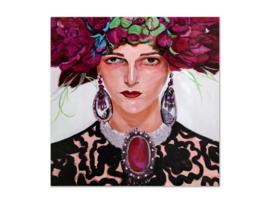 "Olieverf schilderij vrouw ""Stijlvol"" TBW27260sc"