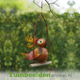 """Metalen tuinbeeld figuur """"De buitengewone vogel"""" TBW16038me"""