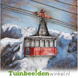 Metalen schilderij ''De skilift'' TBW001133