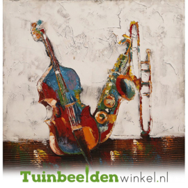 Abstract olieverf schilderij ''De abstracte instrumenten'' TBW003811