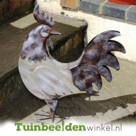 Metalen kip ''De achterom kijkende kip'' Tbw0871pr29