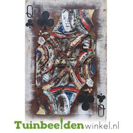 3D schilderij ''De klaver koningin'' TBW001640
