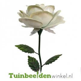 Metalen bloem ''Grote witte roos'' Tbw0871pr107