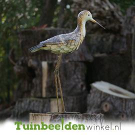 Metalen tuinbeeld figuur ''De ooievaar'' TBW18065