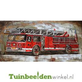 """Metalen schilderij """"De brandweerauto"""" TBW70140015sc"""