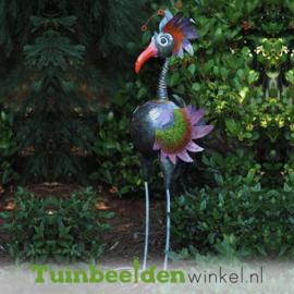 """Metalen tuinbeeld figuur """"De buitenaardse vogel"""" TBW16022me"""