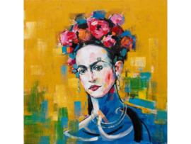 """Olieverf schilderij vrouw """"Vrouw met bloemenkrans"""" TBW60046sc"""