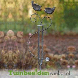 """Metalen tuinbeeld figuur """"De twee vogeltjes"""" TBW19574me"""