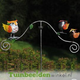 "Tuinsteker balans ""De drie gekleurde uiltjes"" TBW16009me"