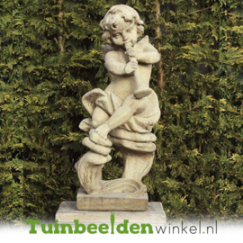 "Engelen beeld ""Trompettist"" op sokkel TWB3br239br"
