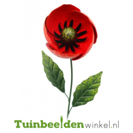 Metalen bloem ''Rode papaver'' Tbw0871pr99