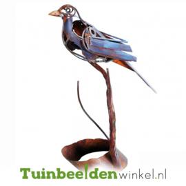 Dieren tuinbeeld ''Ijzeren beeldje blauwe vogel'' Tbw0871pr40