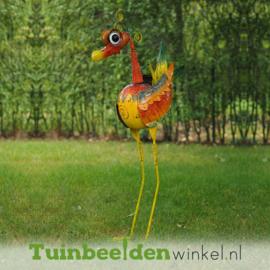 """Metalen tuinbeeld figuur """"De unieke vogel"""" TBW16032me"""
