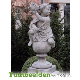 """Engelen beeld """"Seizoen Engel Winter"""" op sokkel TWB3br222br"""