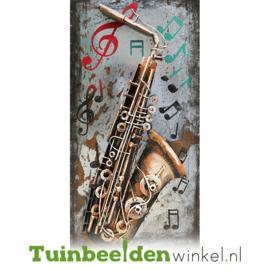 """Muziek schilderij """"De saxofoon"""" TBW000448"""