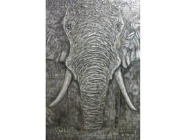 Olieverf schilderij dieren ''Olifant'' TBW006963sc