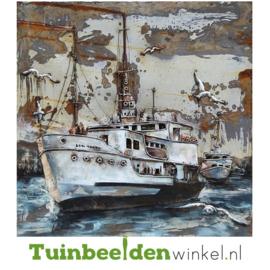 """Metalen schilderij """"De witte boot"""" TBW000350"""