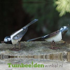 """Metalen tuinbeeld figuur """"De witte vogeltjes"""" TBW16001me"""
