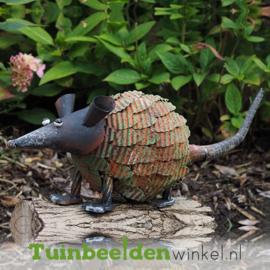 """Metalen tuinbeeld figuur """"De rat"""" TBW12284me"""