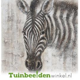 Olieverf schilderij dieren ''De zebra'' TBW000301