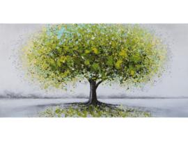 """Olieverf schilderij landschap """"De groene levensboom"""" TBW5392sc"""