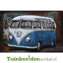 """3D schilderij """"Het blauwe volkswagenbusje"""" TBW000433"""