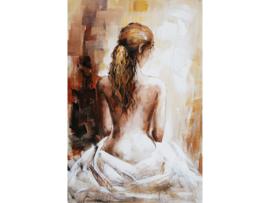 """Olieverf schilderij """"De jonge vrouw"""" TBW5678sc  120x80 cm"""