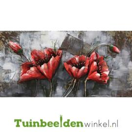 """Metalen schilderij """"De rode klaprozen"""" TBW000192"""