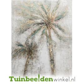 Olieverf schilderij bloemen ''De palmbomen'' TBW60025