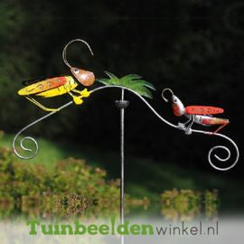 """Metalen tuinbeeld figuur """"De twee sprinkhanen"""" TBW16005me"""