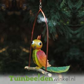 """Metalen tuinbeeld figuur """"Het schommelende vogeltje"""" TBW16014me"""