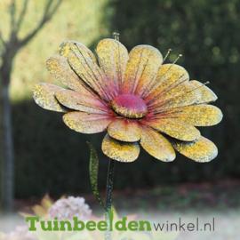"""Metalen bloem """"De gele margriet"""" TBW13090-Bme"""