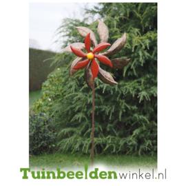 Metalen bloem ''De rode bloem'' TBW16070