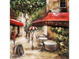 """3D schilderij """"Het kleine café"""" TBW000357"""