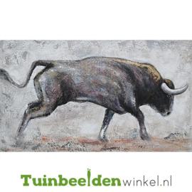 Olieverf schilderij dieren ''De wilde buffel'' TBW006129