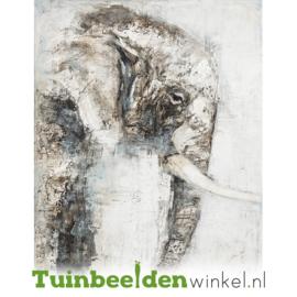 Olieverf schilderij dieren ''De treurige olifant'' TBW60032