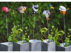 """Metalen tuinbeeld figuur """"Set dieren op stok"""" TBW16144me"""