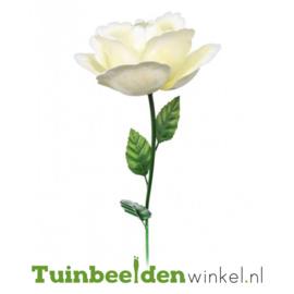 Metalen bloem ''Witte roos'' Tbw0871pr110