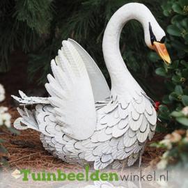 """Metalen tuinbeeld figuur """"De zwaan"""" TBW010651me"""