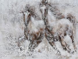 """Olieverf schilderij dieren """"De paarden"""" TBW9632sc"""