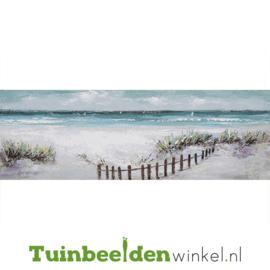 Olieverf schilderij landschap ''Het strand'' TBW004787