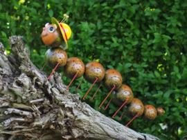 """Metalen tuinbeeld figuur """"Rupsje nooit genoeg"""" TBW16162me"""