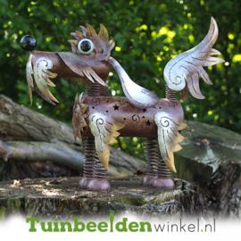 Metalen tuinbeeld figuur ''Het harige hondje'' TBW16110