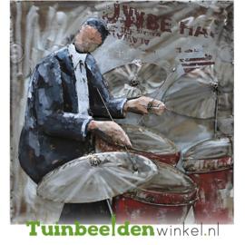 """Muziek schilderij """"De drummer"""" TBW8080017sc"""