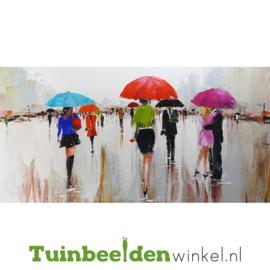 Olieverf schilderij ''Regenachtige dag'' TBW004034